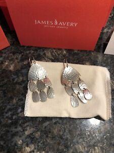 James Avery Shimmering Ear Hooks Sterling Silver