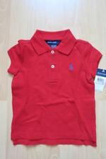 Ralph Lauren Mädchen Polo Shirt Rot 86 92 2T Neu