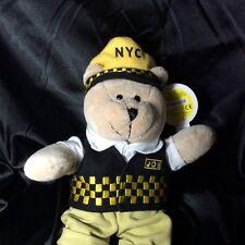 Starbucks Bearista Bear Plush Special Edition New York Taxi Driver Joe 2005, NWT