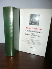 LA PLEIADE - SAINT AUGUSTIN: LES CONFESSIONS 1998 GALLIMARD Confessioni Agostino