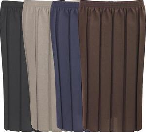 pleat skirt box pleated school skirt black grey navy brown womens plus size D99
