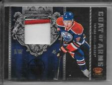 11-12 CROWN ROYALE COAT OF ARMS PATCH #18 TAYLOR HALL 1/5 OILERS 2CL