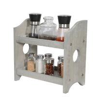 Multi-purpose Wooden Spice Bottles Storage Organizer Spice Rack Countertop