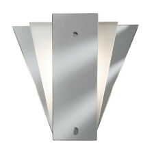 6201WH White and Mirrored Glass Art Deco Style Wall Light