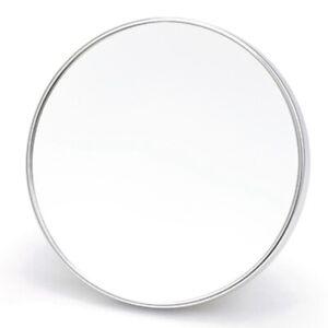 Round Bathroom Sucker Makeup Mirror Suction Metal Frame Wall Mirror Toilet M6Q5