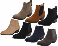 Block Heel Suede Casual Heels for Women