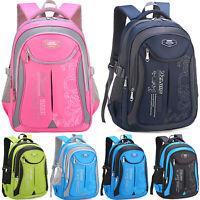Kids Boys Girls Teens Backpack Waterproof Shoulder School Book Bag Rucksack