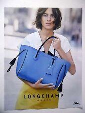 PUBLICITE-ADVERTISING :  LONGCHAMP Sac bleu  2016 Maroquinerie,Mode