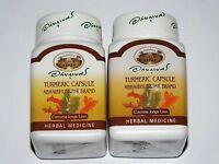 Organic Turmeric 400mg,100% Curcuma Longa, 2 x Bottles ,Total of 120 Caps