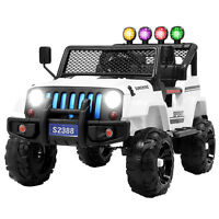 12V Kids Ride on Car Jeep Wrangler Toys Electric Battery w/ Remote Control White