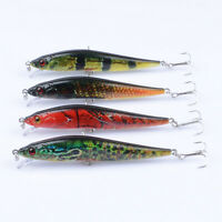 4pcs/Lot Bait Plastic Wobbler Minnow Lure Fishing Lures Bass CrankBait 10cm/10g