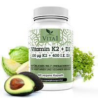 Vitamin K2 & Vitamin D3 Magnesiumsalze Vitamin K2 + Vitamin D3 60Kapseln