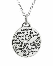 Tree Frog Charm Necklace - 950 Sterling Silver - Handmade - Inspirational NEW