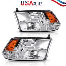 Headlight Assembly with 09-18 Dodge Ram 1500 2500 3500 Pickup Quad Chrome Pair