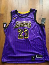 Nike Los Angeles Lakers LeBron James Jersey City Edición finales Swingman