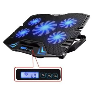TopMate C5 12-15.6 inch Gaming Laptop Cooler Cooling Pad | 5 Quiet Fans and L...
