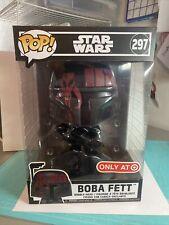 """Boba Fett Funko Pop Star Wars 297 Futura 10""""  Black Red Special Edition Sealed"""