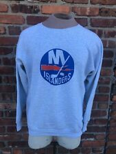 Men's Vintage New York Islanders Logo Heather Gray Crewneck Sweatshirt L/XL 90s