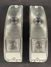 1967-72 FORD F100 F250 & 1967-1977 BRONCO TAIL LIGHT LENS Pair CLEAR SET NEW