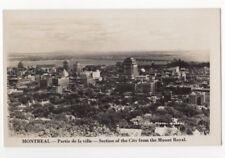 Montreal Partie de la Ville Canada Vintage RPPC Postcard US082