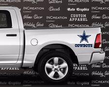 Dallas Cowboys x2 Truck Car Vinyl Decals, Stickers Football team fan banner logo