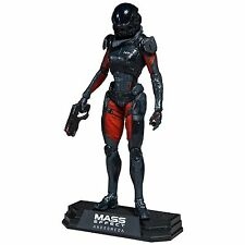 """Mass Effect Andromeda Sara Ryder 7"""" Figura de Acción Prendas para el torso de color verde MCFARLANE"""