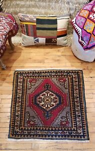 """Beautiful Vintage 1960-1980's Wool Pile, Natural Dye,Tribal Rug 2'6"""" x 2'9"""""""