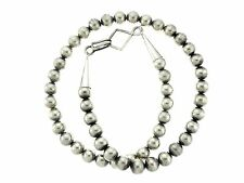 """Sterling Silver 12mm Round Big Bead 26"""" Necklace"""