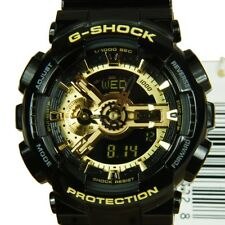 Casio G-Shock Mens Watch GA110GB-1A GA-110GB-1ADR Digital-Analogue Black/Gold
