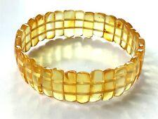 Honey Natural genuine real BALTIC sea Amber stone ladies bracelet 11 gr. #1612