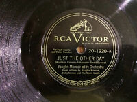 """Vaughn Monroe Just the Other Day RCA Victor 20-1920 78rpm 10"""" VG 1946"""