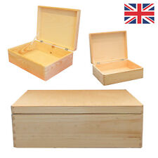 Large Wooden chest storage box plain pine 40x30x14cm SD140B UK