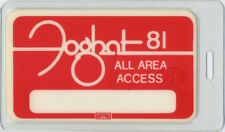Foghat 1981 Laminated Backstage Pass