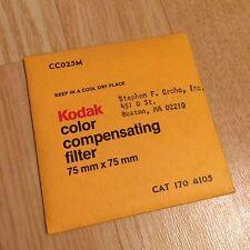 Kodak Filter CC025M 75x75mm - Color Compensating 3x3