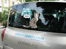 WIPER WAGGER HAPPY SMILE CAT LOVER STICKER FOR CAR REAR WINDSCREEN