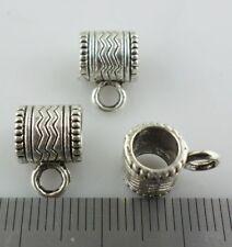 20pcs Tibetan Silver Connectors Spacer Bail Beads Charm Crafts Pendants 7x9x12mm