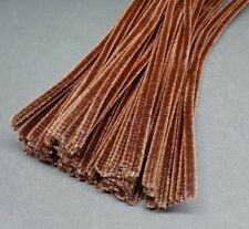 50 x Jumbo Premium Craft Pipe Cleaners Chenille tiges 300 mm x 6 mm-Marron
