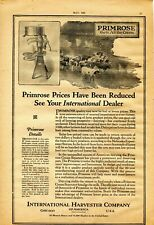 1921 Print Ad of International Harvester IH Primrose Dairy Cream Separator