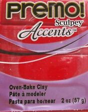 Sculpey PREMO ACCENTS - Polymer Clay - 57g - RED GLITTER