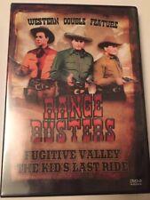 Range Busters Western Double Feature Region All  (DVD, 1941) NR. B&W. Fugitive..