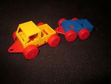 Fischertechnik Modell Auto für Kinder & Anhänger Spielen Eigenbau rot blau gelb