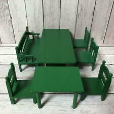 SYLVANIAN FAMILIES Vintage Square Green Table Set Retired CALICO CRITTERS Epoch