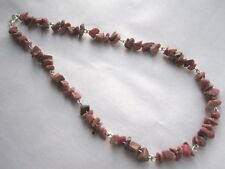 #rc2. Rhodonite Chip Necklace