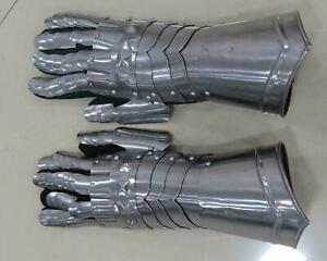 Medieval Gauntlets/Gloves larp /role-play/fancy-dress /Theatre HALLOWEEN ANTIQUE