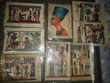 LIQUIDACION LOTE 8 PAPIRO EGIPTO 32CM X 21CM  CON CERTIFICADO EN BOLSA (NUEVOS)
