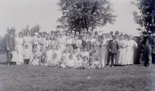 4x5 5x4 4 x 5 Antique Glass Plate Negative  Large Church group or Family Reunion