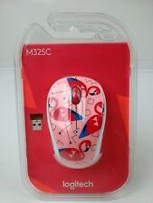 Logitech M325C Wireless Optical Ambidextrous Mouse, Flamingo