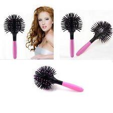New 3D Hair Brush Ball Style Blow Drying Detangling Salon Heat Resistant Comb Z