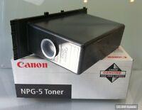 Original Canon NPG-5 Toner Schwarz 1376A002 für NP3030, NP3050, NEUWARE