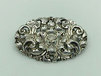 Gorgeous Vintage Yogya MD Indonesia 800 Solid Silver Flower Statement Brooch